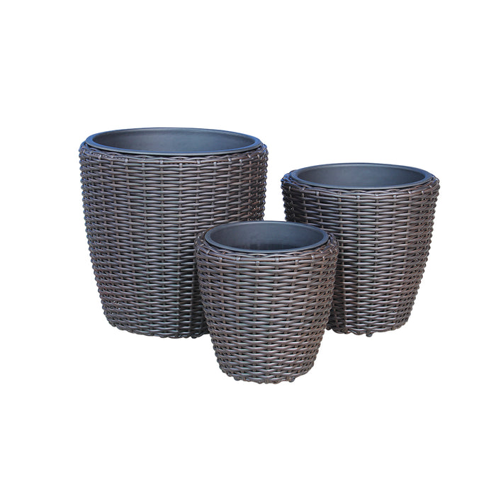 Indoor Wicker Round Pot Size M D38cm