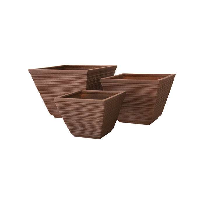 EcoLite Tapered Square Pot Size L D60cm
