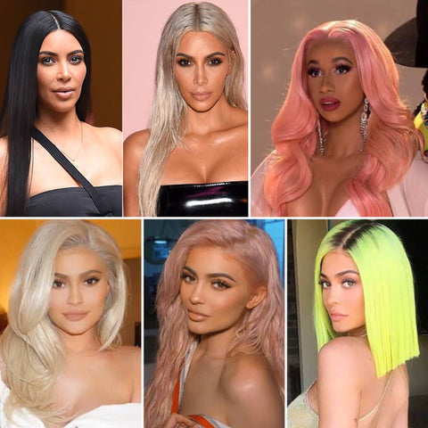 Celebrity wig collection