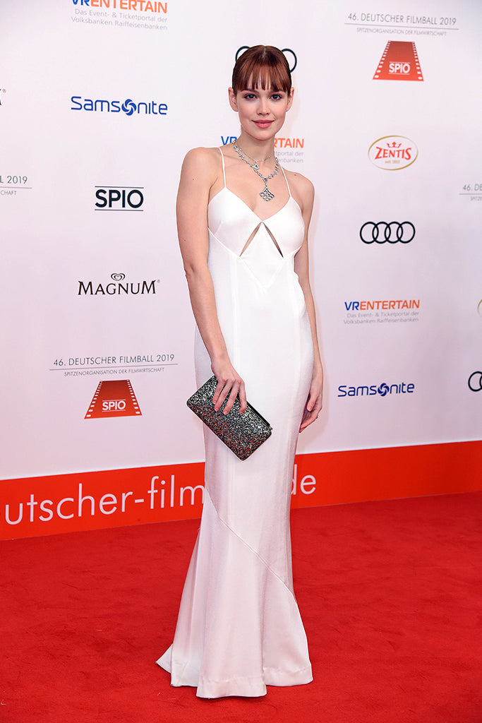 Emilia Schüle wears Galvan to the German Filmball