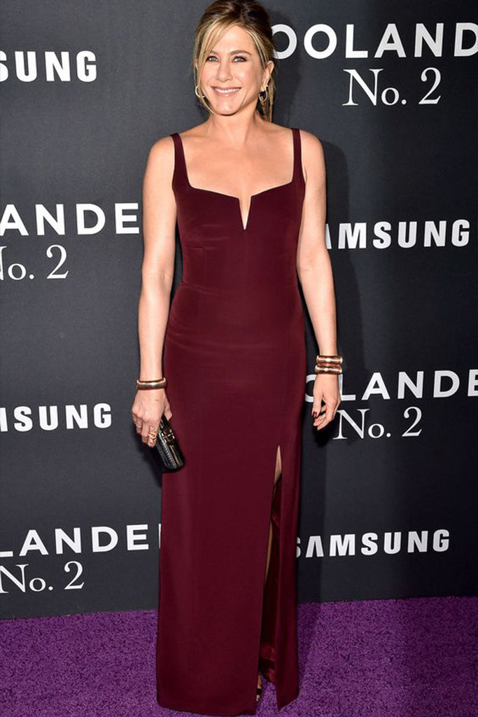 Jennifer Aniston wears a classic Galvan for the Zoolander II premiere