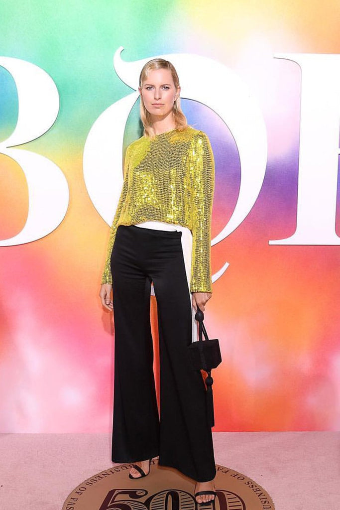 Karolína Kurková wears Galvan to Business of Fashion's #BoF500 gala dinner