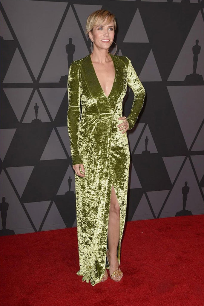 Kristen Wiig wears Galvan to the Academy of Motion Picture Arts and Sciences' Annual Governors Awards
