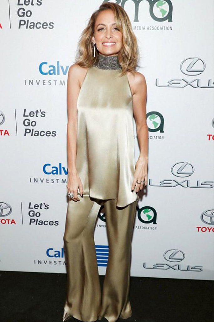 Nicole Richie wears Galvan to host the Environmental Media Awards