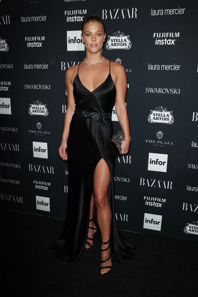 Nina Agdal wears Galvan to Harper's Bazaar's Icons party in NYC