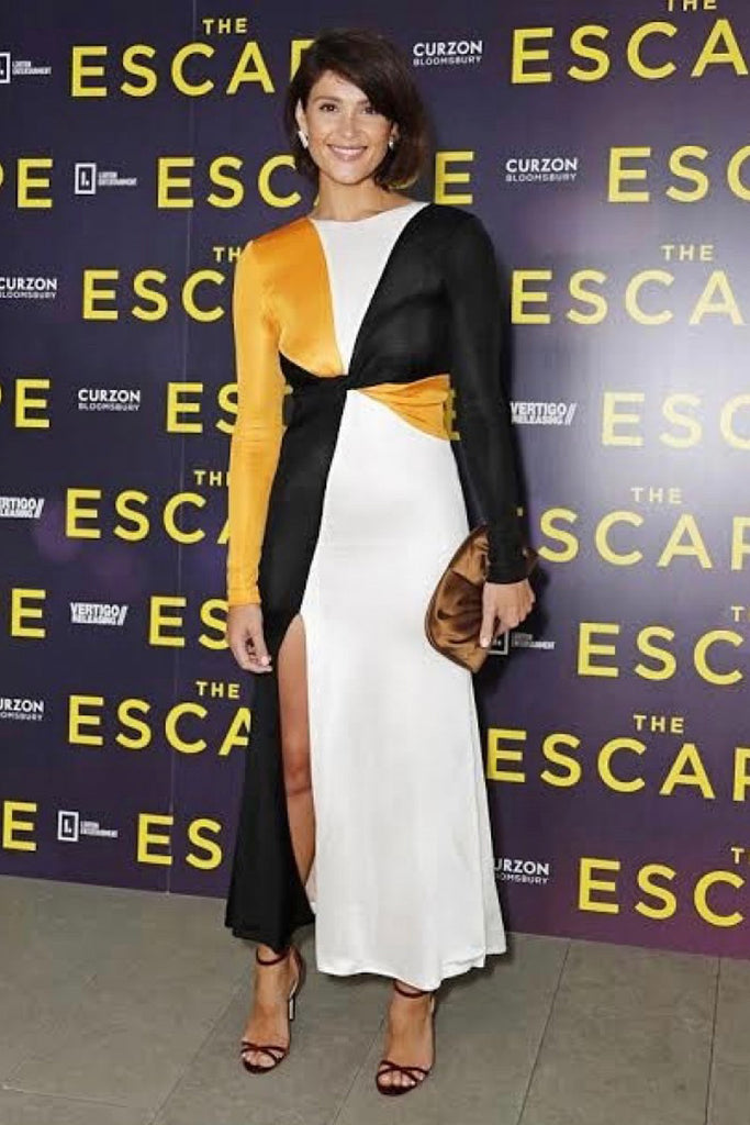 "Gemma Arterton wears Galvan to screening of ""The Escape"" in London"