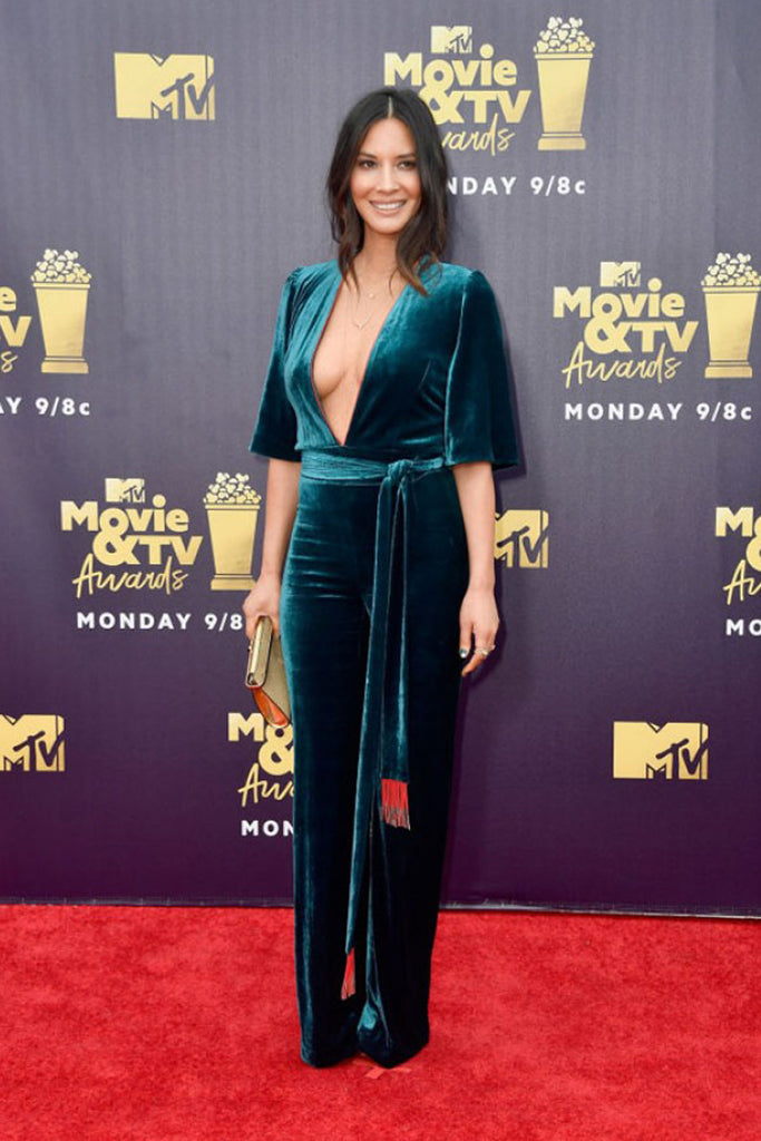Olivia Munn wears Galvan to the MTV Film Awards