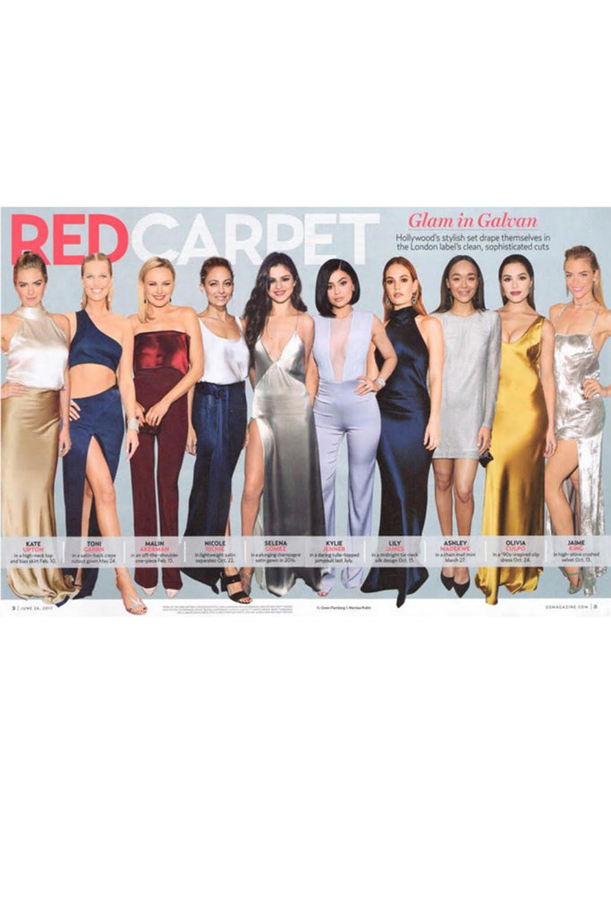 'Red Carpet: Glam in Galvan,' US Weekly (US)