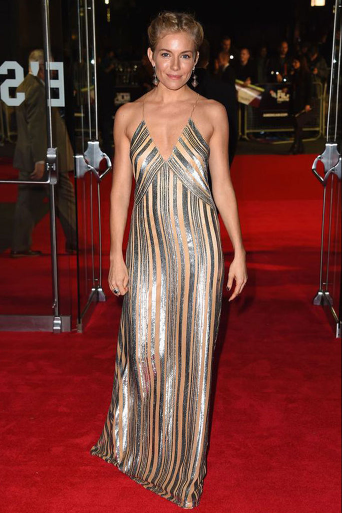 Sienna Miller wears Galvan at the Foxcatcher Premiere