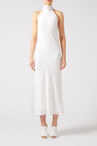 Galvan London - Cropped Sienna Dress - White - Padma Lakshmi