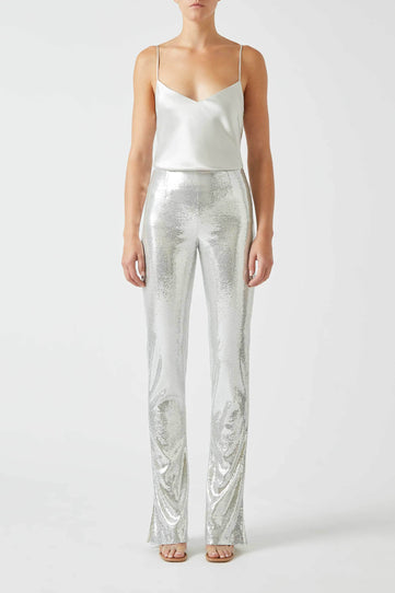 Ando Trousers - Silver