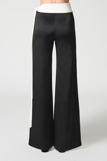 Crepe Vesper trousers - Black & White