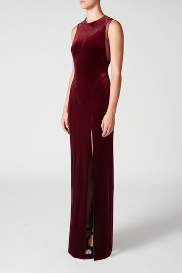 Crescent Dress - Wine