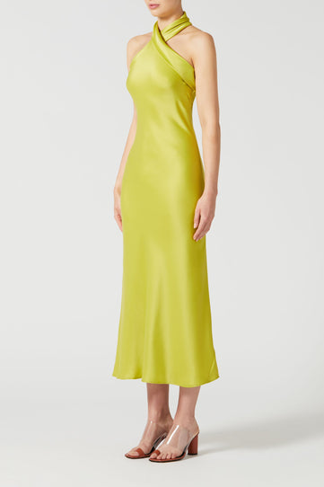 Cropped Pandora Dress - Lime
