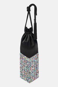 Cascade Pouch - Black & Multi-Colour