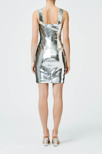 Chrome Mini Dress