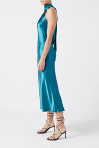 Cropped Sienna Dress - Peacock