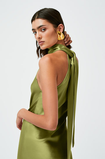 Cropped Sienna Dress - Safari Green