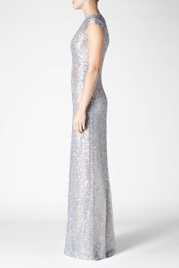 Estrella Cap Sleeve Dress - Silver