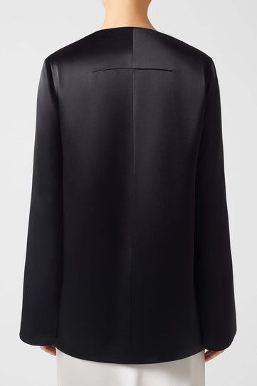 Satin Evening Jacket - Black