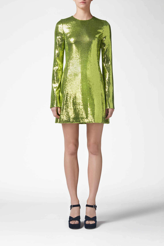 Galaxy Mini Dress - Lime