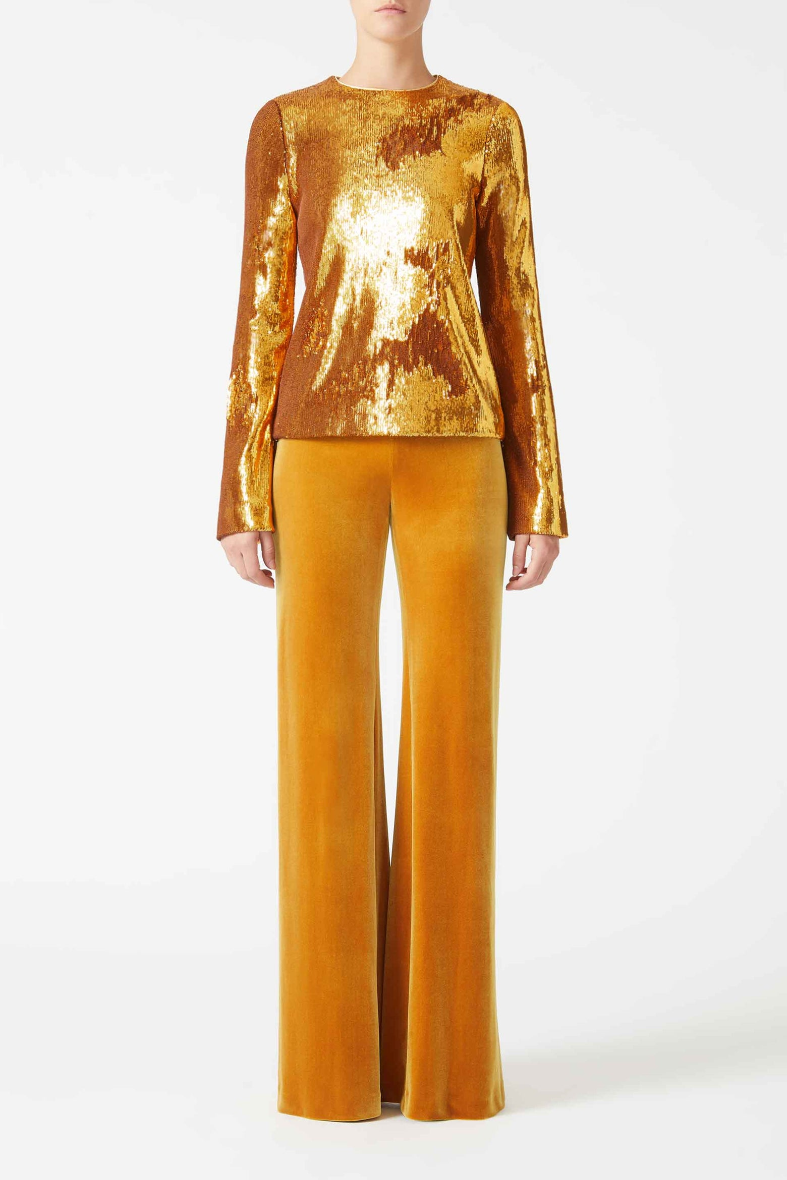Gilded Clara Top - Burnished Gold