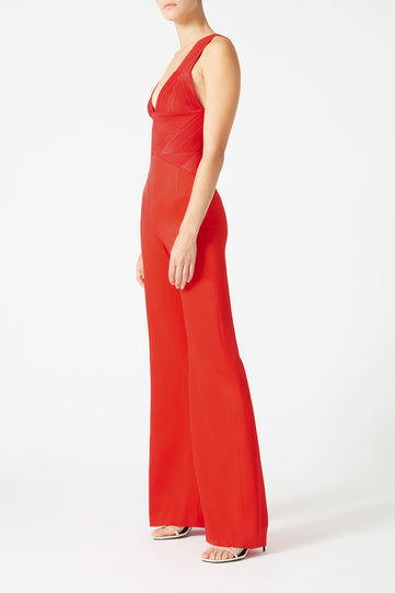 Langen Jumpsuit - Red