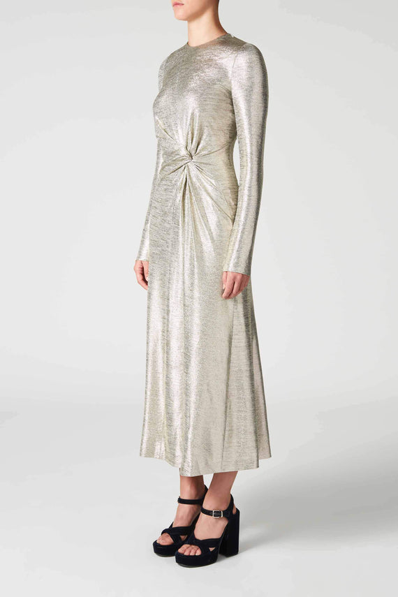 Metallic Pinwheel Dress - Platinum
