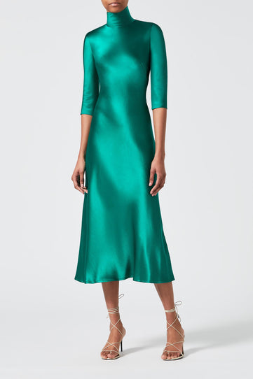 Margot Dress - Hunter Green