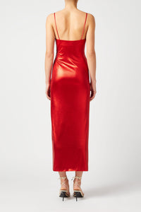 Mars Dress - Metallic Red