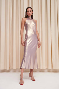 Moonlight Cropped Sienna Dress - Lilac Gold
