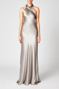 Silk Pandora Dress - Steel