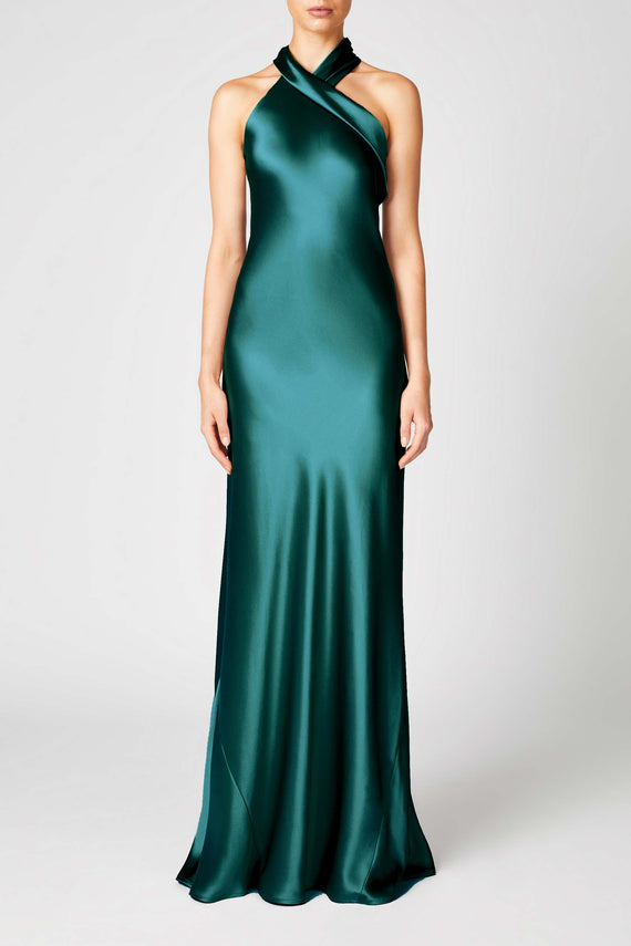 Silk Pandora Dress - Emerald