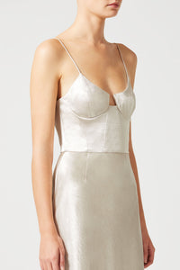Phoebe Bustier Dress - Platinum