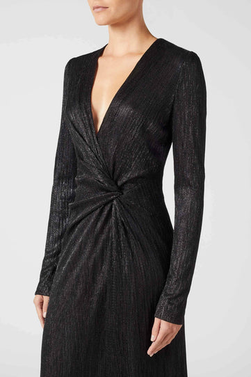 Plissé Dress - Black