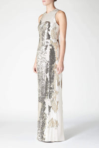 Salar Column Dress - Nude & Gold
