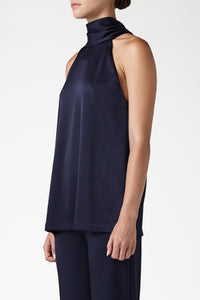 Sash Neck Tunic - Midnight