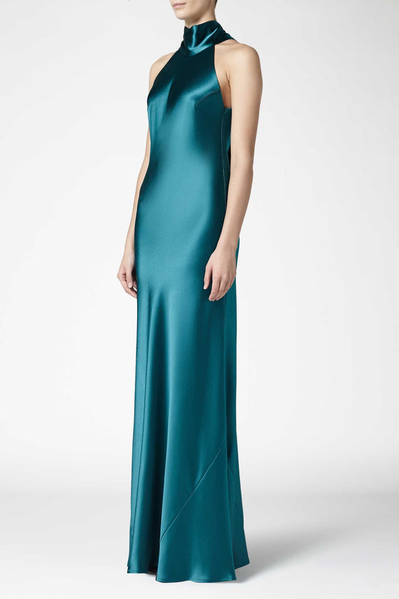Silk Sienna Dress - Emerald