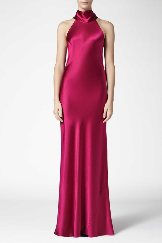 Silk Sienna Dress - Raspberry