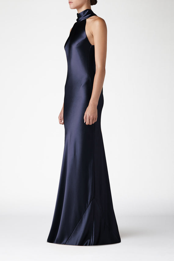 Silk Sienna Dress - Midnight