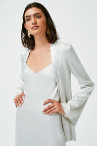 Satin Slip Jacket - Platinum