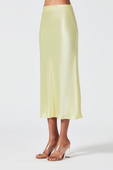 Satin Valletta Skirt - Buttermilk