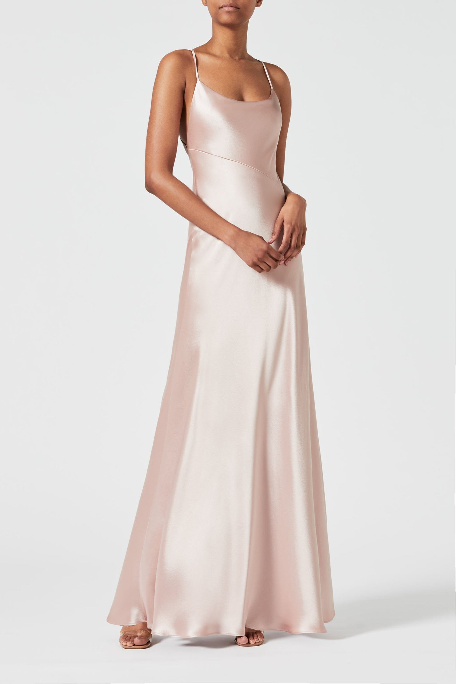 Serena Dress - Rose Nude