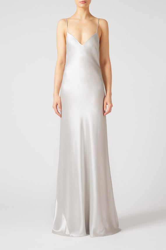 V-Neck Slip Dress - Platinum