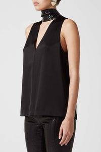 Paillette Cortado Top - Black