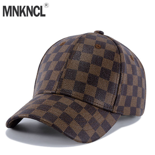 b0aac4e1cd1 MNKNCL High Quality Leather Baseball Cap Polo Style Hat Snapback Fashion  Sports Hats For Men
