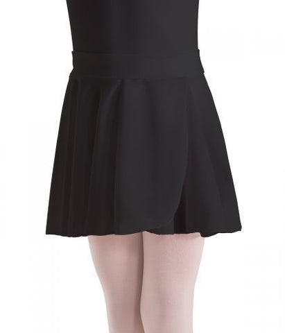Pull-On Wrap Crepe Skirt MotionWear