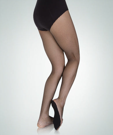 Girls TotalStretch Seamless Fishnet Tights (Black)