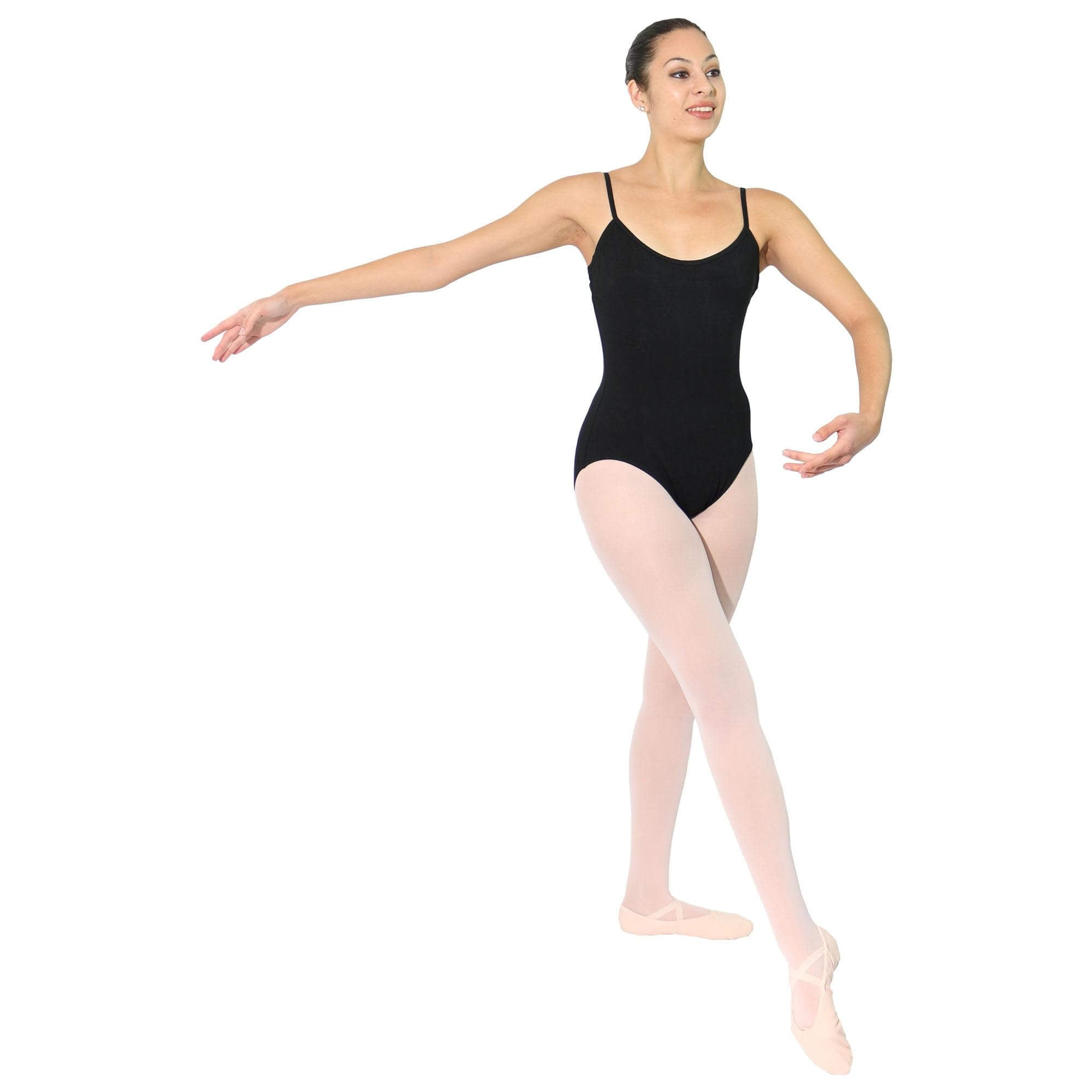 Camisole Ballet Cut Leotard Adult (Black)