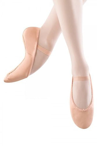 Girls Full Sole Leather Ballet Shoe (Pink)